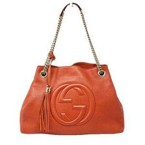 Gucci Soho Medium on Chain Leather Shoulder Bag